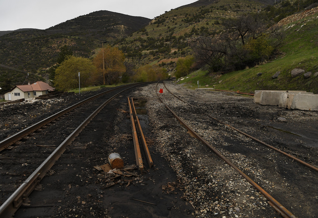 . Railroad tracks run through Somerset, Colorado, April 27, 2016. Trains are used to transport coal form area mines. (Photo by RJ Sangosti/The Denver Post)