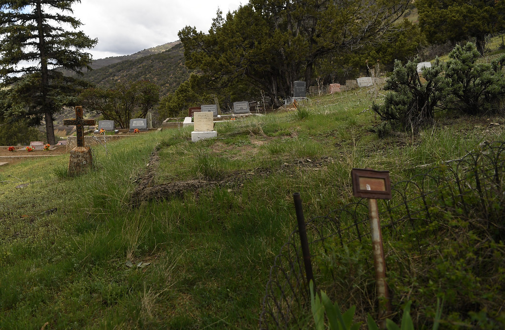 . The Somerset Cemetery tells a long history of the small coal town in western Colorado, April 27, 2016. (Photo by RJ Sangosti/The Denver Post)
