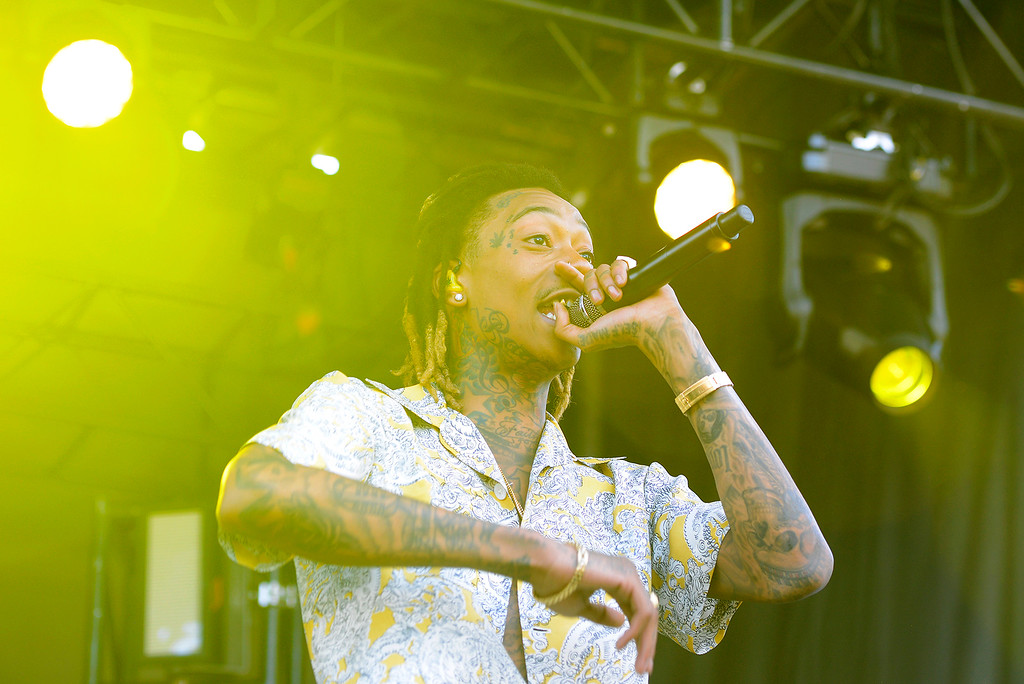 . Wiz Khalifa performs during the Denver 420 Rally held Saturday at Civic Center Park. (Photo by Kira Horvath/ The Denver Post)