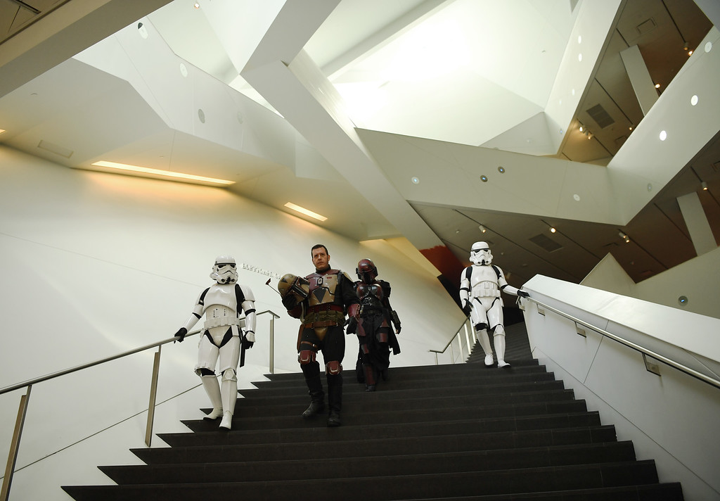 . The Denver Art Museum held a May the 4th Be With You event to kick off ticket sales for the upcoming exhibition, Star Wars and the Power of Costume, opening at the DAM in November, May 04, 2016. Costumed characters entertained fans at the museum. (Photo by RJ Sangosti/The Denver Post)