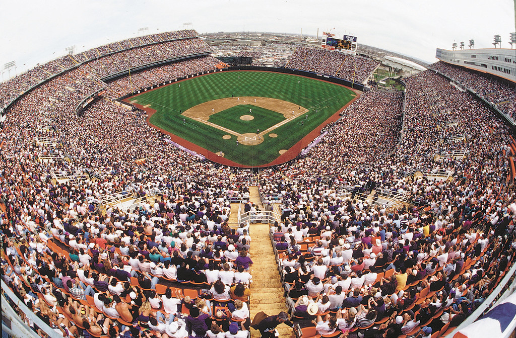 . 80,227 fans welcomed the Colorado Rockies on their first opening day at Mile High Stadium on April 9, 1993. (The Denver Post / Helen H. Davis )