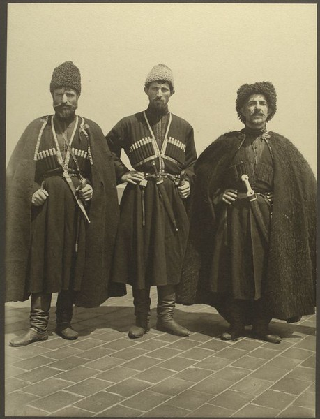 . Russian Cossacks. (Photo by Augustus Sherman)