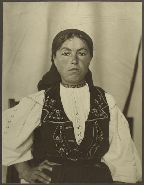 . Romanian woman. (Photo by Augustus Sherman)