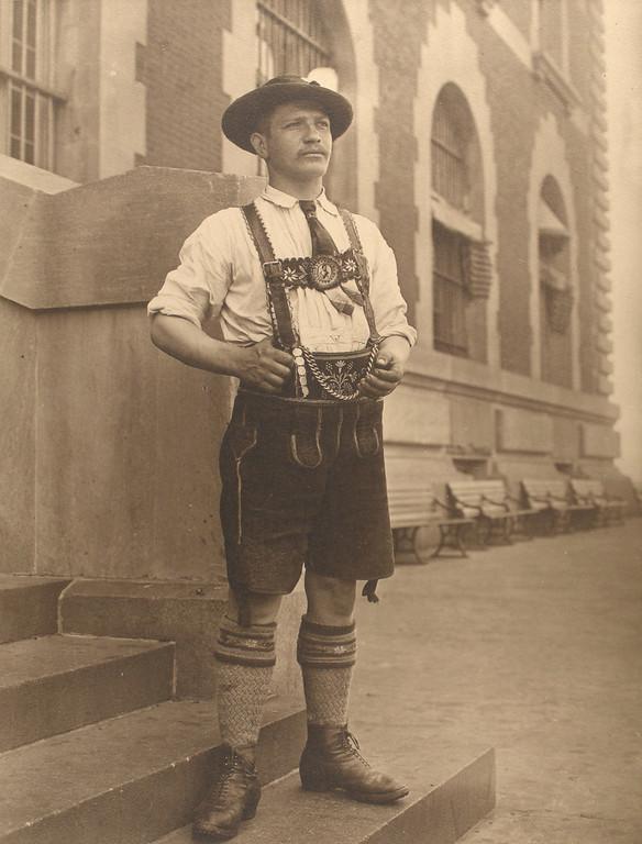 . Bavarian man. (Photo by Augustus Sherman)