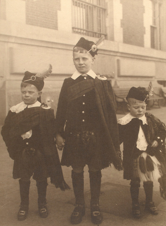 . Scottish boys. (Photo by Augustus Sherman)