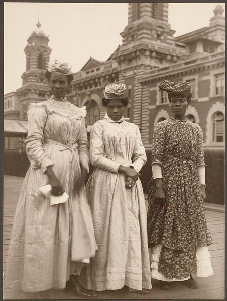 . Three women from Guadeloupe. (Photo by Augustus Sherman)