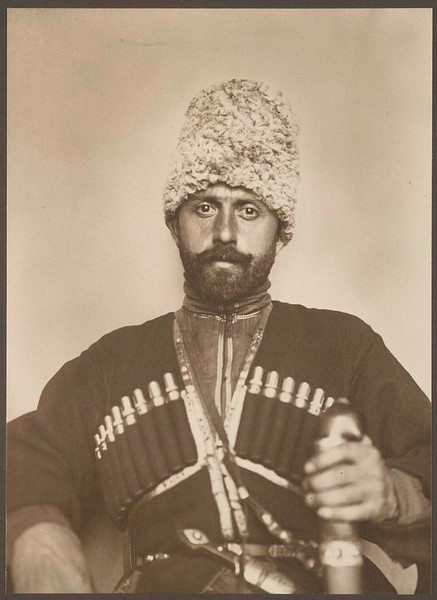 . Cossack man from the steppes of Russia. (Photo by Augustus Sherman)
