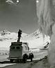 Denver Post Photo van, Trail Ridge Road, Rocky Mountain National Park, Colorado. (Denver Post Library photo archive)