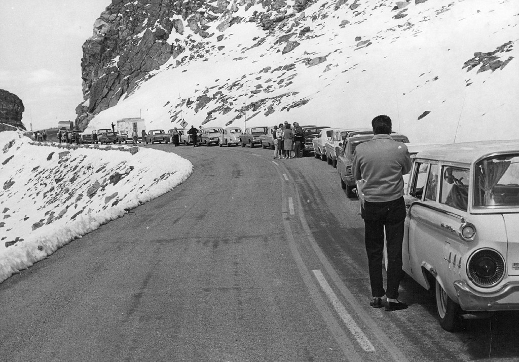 . Trail Ridge Road, Rocky Mountain National park, Colorado in 1965. (Denver Post Library photo archive)