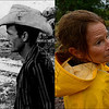 LEFT: July 28, 1966 - Loring Goodan looks over the remains of floodwater from Deer Creek. (Bill Peters/The Denver Post) RIGHT: Kym Dabagian checks out the damage in her neighborhood in north Boulder, September 12, 2013. (RJ Sangosti/The Denver Post)