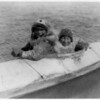 Title: Boys in a kaiak (i.e., kayak)--Nunivak.  <br /> Date Created/Published: c1929 February 28.  <br /> Photograph by Edward S. Curtis, Curtis (Edward S.) Collection, Library of Congress Prints and Photographs Division Washington, D.C.