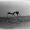 Title: A burial platform--Apsaroke.  <br /> Date Created/Published: c1908 July 6.  <br /> Photograph by Edward S. Curtis, Curtis (Edward S.) Collection, Library of Congress Prints and Photographs Division Washington, D.C.