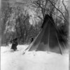 Title: When winter comes.  <br /> Date Created/Published: c1908 July 6.  <br /> Summary: Dakota woman, carrying firewood in snow, approaches tipi.  <br /> Photograph by Edward S. Curtis, Curtis (Edward S.) Collection, Library of Congress Prints and Photographs Division Washington, D.C.