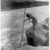 Title: The fisherman--Wishham (i.e., Wishram).  <br /> Date Created/Published: c1910 March 11.  <br /> Summary: Tlakluit Indian, standing on rock, fishing with dip net.  <br /> Photograph by Edward S. Curtis, Curtis (Edward S.) Collection, Library of Congress Prints and Photographs Division Washington, D.C.