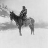 Title: The scout in winter--Apsaroke.  <br /> Date Created/Published: c1908 July 6.  <br /> Summary: Apsaroke man on horseback on snow-covered ground, probably in Pryor Mountains, Montana.  <br /> Photograph by Edward S. Curtis, Curtis (Edward S.) Collection, Library of Congress Prints and Photographs Division Washington, D.C.