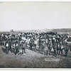 Title: At the Dance. Part of the 8th U.S. Cavalry and 3rd Infantry at the great Indian Grass Dance on Reservation<br /> Group portrait of Big Foot's (Miniconjou) band and federal military men, in an open field, at a Grass Dance on the Cheyenne River, S.D.--on or near Cheyenne River Indian Reservation. 1890.<br /> Repository: Library of Congress Prints and Photographs Division Washington, D.C. 20540
