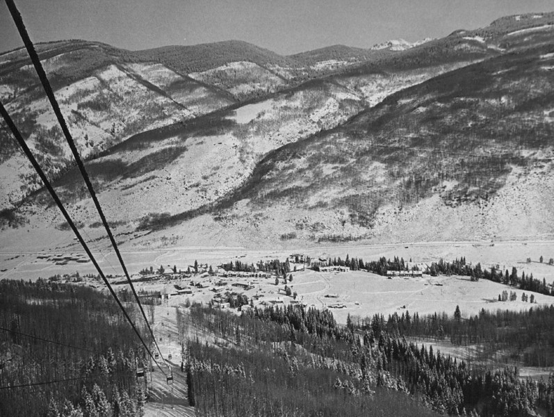 Vail Ski Area from Gondola, 11-19-1964. Denver Post Library photo archive