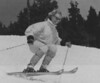 Fun in the Sun -- Eva Anderson, of Vail, Colorado, skis the bumps on one of the back bolls of Vail ski area Wednesday afternoon. Temperatures in Vail were in the mid-60's today. 1986  Credit: AP Laserphoto.  Denver Post Library photo archive