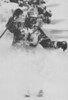 """Powder Busting - Jim Himmes of Vail Ski Patrol skis through fresh powder snow in Vail Area's """"China Bowl"""". Vail and other Colorado Ski Areas have had as much as two feet of fresh snow this week. 1988  Credit: AP Laserphoto.  Denver Post Library photo archive"""