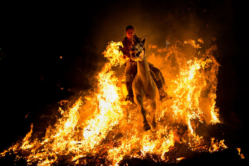 APTOPIX Spain San Anthony Bonfire Festival