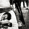 Student at Rest. Tiananmen Square, Beijing - May 1989. (Photo by Robert Croma)
