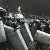 January 22, 2014<br /> Riot police leaving the area near Lobanovskyi Dynamo Stadium after the crackdown on protesters in central Kiev.<br /> © Maxim Dondyuk<br /> Winner of the Ville de Perpignan Rémi Ochlik Award 2014