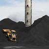 Coal Storage, TS Power Plant, Newmont Mining Corporation, Dunphy, Nevada 2012. (Photo by Lucas Foglia)