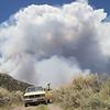 George Chasing Wildfires, Eureka, Nevada 2012. (Photo by Lucas Foglia)