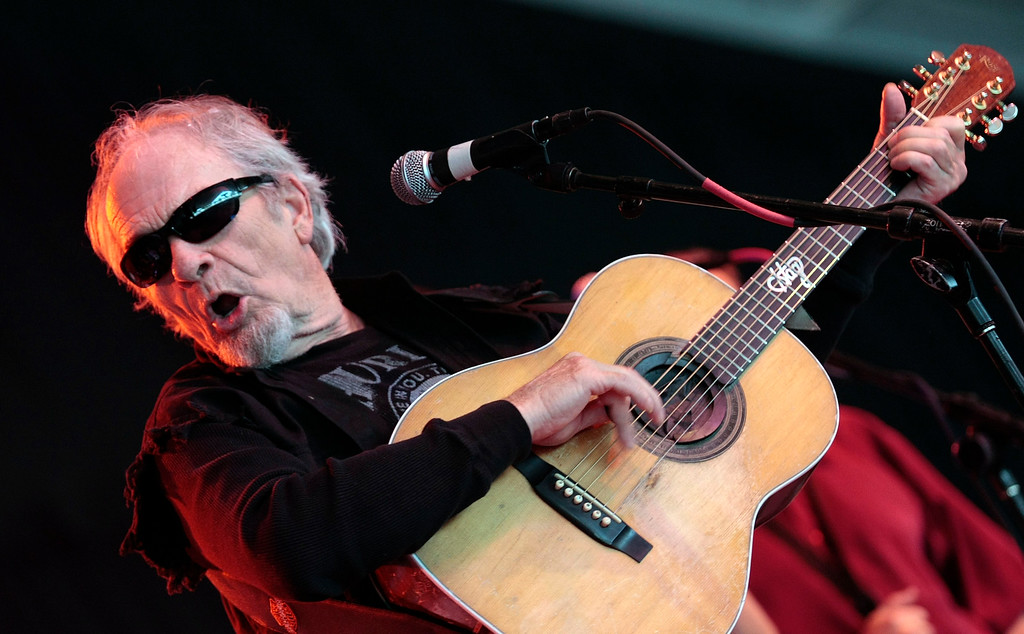 . Merle Haggard performs during the Bonnaroo Arts and Music Festival in Manchester, Tenn., Sunday, June 14, 2009.  (AP Photo/Dave Martin)
