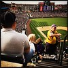Denver post photographer Seth McConnell covered the Colorado Rockies opening day, on April 8, 2016, using the photo app Hipstamatic and publishing on Instagram.