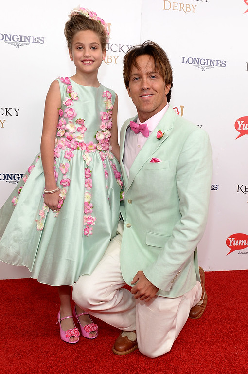 . Dannielynn Birkhead (L) and former model Larry Birkhead attend the 142nd Kentucky Derby at Churchill Downs on May 07, 2016 in Louisville, Kentucky.  (Photo by Gustavo Caballero/Getty Images for Churchill Downs)
