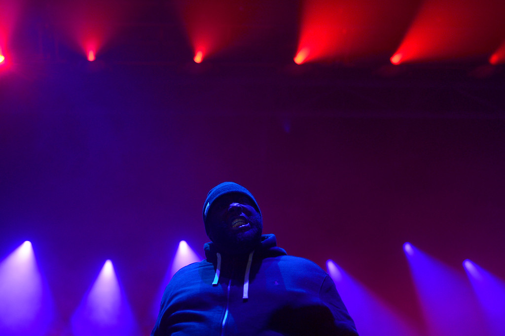 . Killer Mike of Run The Jewels performs at Winter X Games 2016 at Buttermilk Mountain on January 28, 2016 in Aspen, Colorado. (Photo by Brent Lewis/The Denver Post)