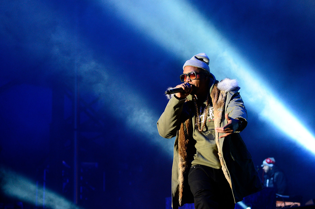 . Nas performs at Winter X Games 2016 at Buttermilk Mountain on January 28, 2016 in Aspen, Colorado. (Photo by Brent Lewis/The Denver Post)