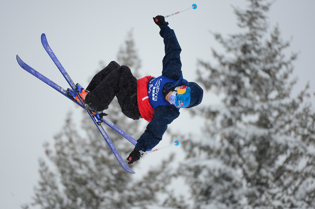 . ASPEN, CO - JANUARY 31: Bobby Brown goes for a flip during Men\'s Ski Slopestyle at Winter X Games 2016 at Buttermilk Mountain on January  31, 2016 in Aspen, Colorado. Jossi Wells won the event with a score of 90 coming after his last run. (Photo by Brent Lewis/The Denver Post)