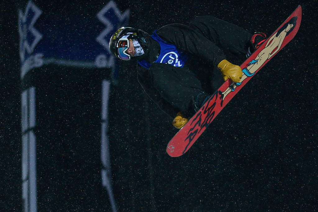 . Chase Josey goes for a rodeo in his first run during men\'s halfpipe finals at Winter X Games 2016 at Buttermilk Mountain on January 29, 2016 in Aspen, Colorado. The event was canceled after the first set of runs due to weather. Matt Ladley, from Steamboat Springs, Colorado, took the gold with a score of 82.33 after finishing one run. (Photo by Brent Lewis/The Denver Post)