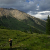 A backpacker walks on the Colorado Trail, Collegiate West trail. Dean Krakel/The Denver Post