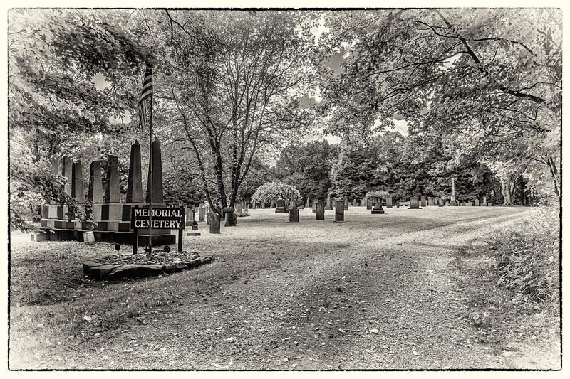 Entrance - Burton Memorial Cemetery, Burton, Geauga Co., OH