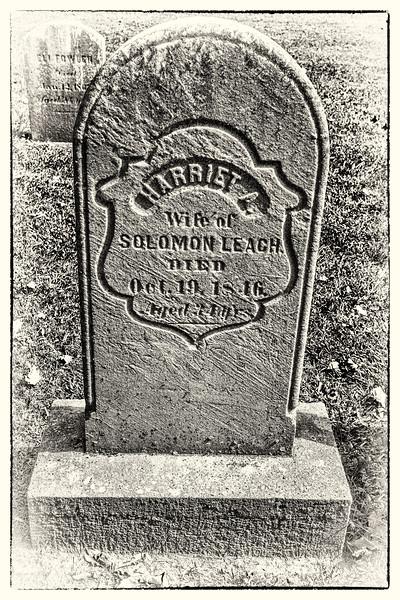 Gravesite of Harriet A. (Fowler) Leach Fowler (1812-1846)