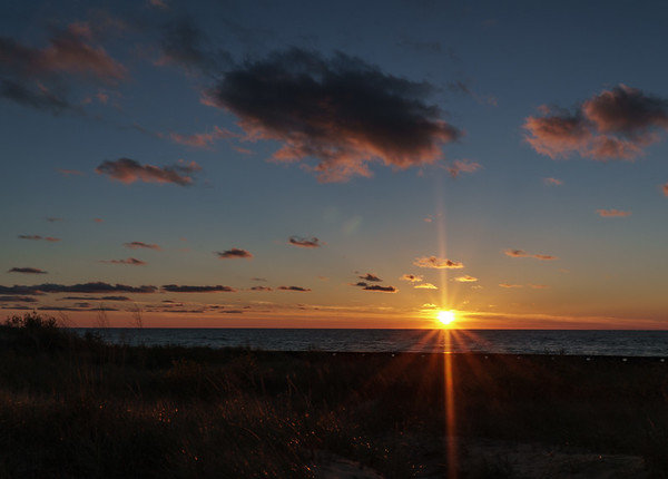 Sunset over Lake Michigan - Ludington State Park