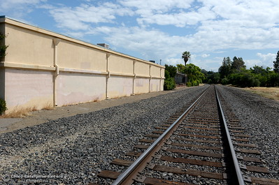 "The old Train Depot has alledgedly been purchased as a sign is seen that says ""sale pending"" at the Depot in Oroville, Calif. Tues. May 22, 2018.  (Bill Husa -- Photos)"