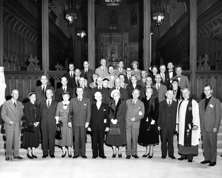 General Society of Colonial Wars, Nana & Bapa 4th & 5th from left on front row.  Washington, DC?  1948?