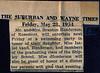 Suburban and Wayne Times, May 28, 1954.