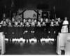 Mary Boswell School kindergarten class, Christmas play and Nativity Scene, Dec., 1966.  St. Luke's Episcopal Church, Dallas, TX.
