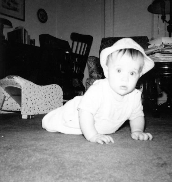 November, 1961, Tulsa, OK, apartment.