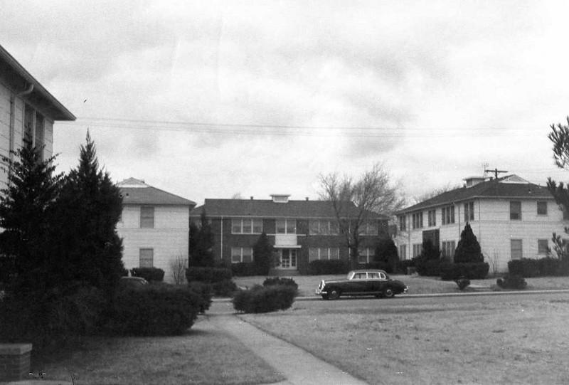 Brooks' apartment house in Tulsa, OK, 1961.  2520 So. Harvard Court, Apt. A.