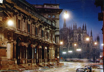Milano, Italy, Cathedral postcard.