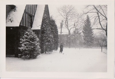 Isabel in the winter of 1944 at the Rosemont house.