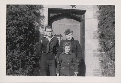 Brant, Isabel and Nana, Winter 1944, at the Rosemont house.