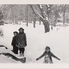 Hattie and Mary Riddle, with Isabel, Dec. 1944.
