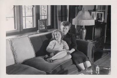 Winter, 1944, Isabel with Nana at Rosemont.